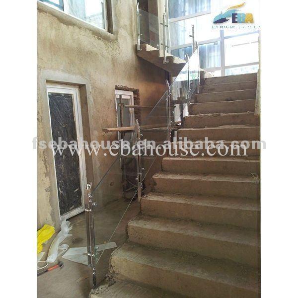 Barandales para escaleras cristal templado laminado - Barandales de escaleras ...