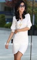 Женская юбка hot sale New Fashion Irregular Tailer Made Women Evening Party Mini Dress V Collar Club Mini Sexy Dress 4 Colors