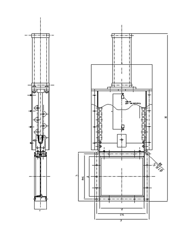 High Temperature Resistance Pneumatic Slide Gate For