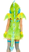 Женский эротический костюм 2013 Cosplay costume Sexy Costume Cute and Colorful Dragon Dress Wild Puff Monster Sexy Dragon Costume