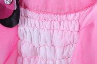 Платье для девочек Fashion Cute Kids Children teen Girls Chiffon Satin Flower short Summer Dress