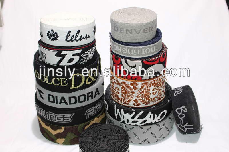 38mm elastic webbing / jacquard elastic webbing/jacquard underwear elastic band