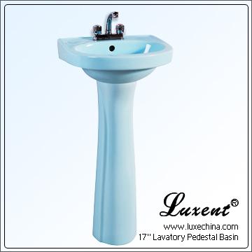 Blue Pedestal Sink : Pedestal Lavatory Sinks Light Blue, Bathroom Pedestal basins, Pedestal ...