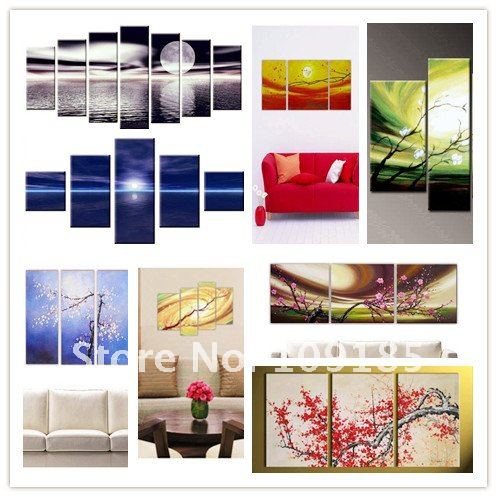 Free Shipping Handmade Oil Painting Group
