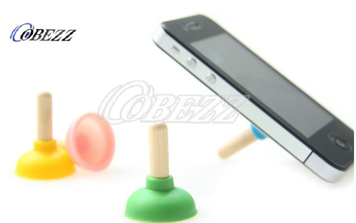 wholesale hotselling  Rubber toilet sucker Stand/plunger sucker stand Holder for iPhone 4/4S    50pcs/lo t freeshpping