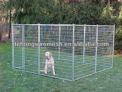 Hot sale! galvanzied or black wire dog cage