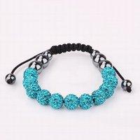 качество 11 морской синий горный хрусталь кристалл диско шары Шамбалы браслет из бисера, ручной работы Шамбалы браслеты
