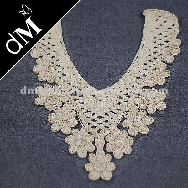 Rosa collar de algodón cuello patrón de diseño de blusa nl-343