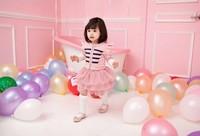Комплект одежды для девочек Pink Grey new fashion children girl set kids suit 2pcs long sleeve jacket with chiffon tutu skirt 1 set Retail