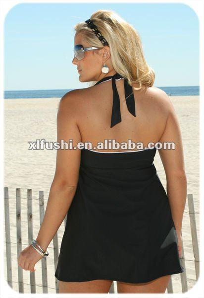 In Control Hilo Halter Swimdress Style Women's Plus Size Swimwear