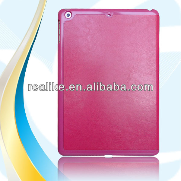 Transformers leather case cover for ipad 5 with high quality