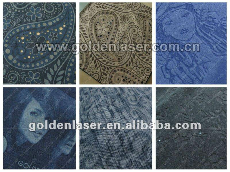 denim laser engraving samples