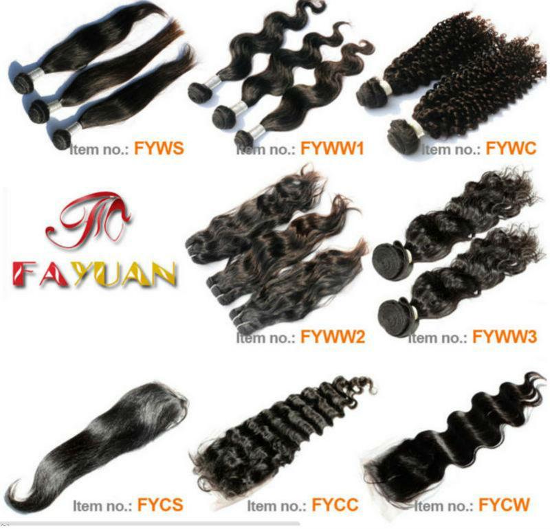 Real Human Hair unprocessed 5a top grade 100% virgin brazilian hair