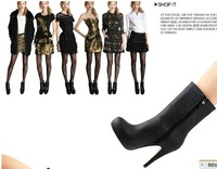 Женские ботинки Ladies Fashion PU Sexy High Heel Mid-Calf Boots for Women/Ladies Black Fashion Boots Size:35-39 K300