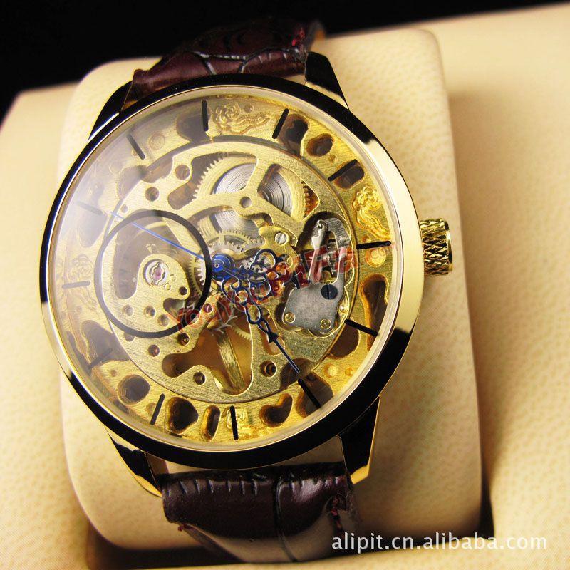 Часы прозрачные наручные Швейцарские часы