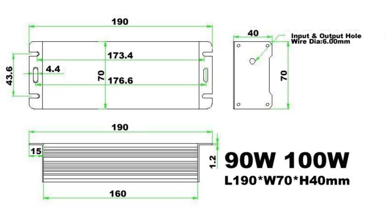 100w 36v led driver,100w waterproof led driver ip67,led driver 24v 100w