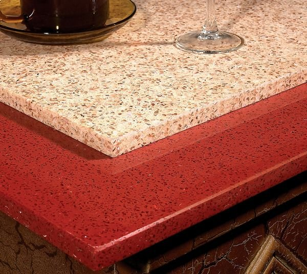 Red Countertop Materials : Red quartz stone, solid surface, kitchen countertop,building material