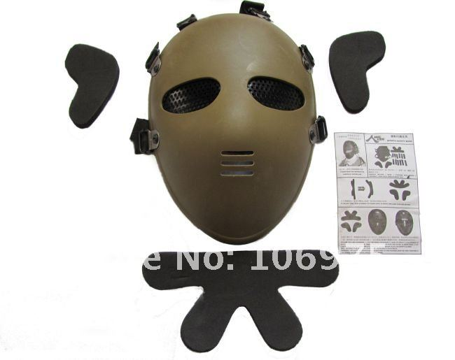 2ND GENERATION ET FULL SAFETY IMPACT RESISTANCE PROTECTION FACE MASK GOOD FOR AIRSOFT PAINTBALL BB GUN