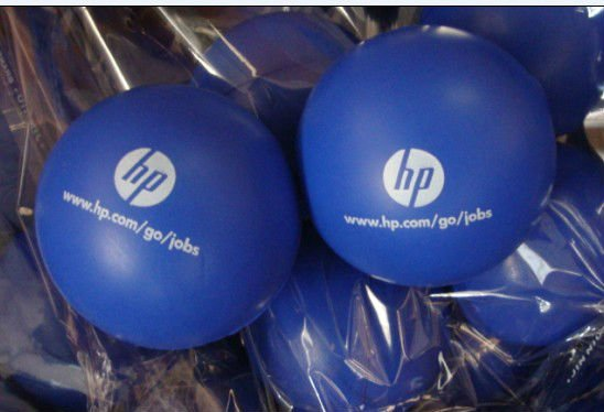 63mm diameter promotional anti stress ball ,OEM acceptable (polyurethane material)