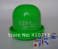 Plastic poker cups, poker dice set, shaker cup
