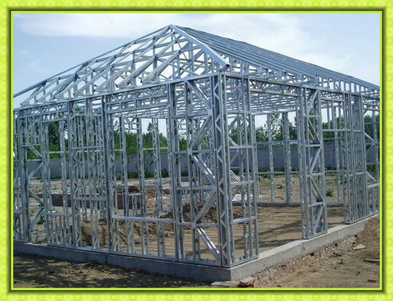 Modern design low cost one story Luxury steel villa