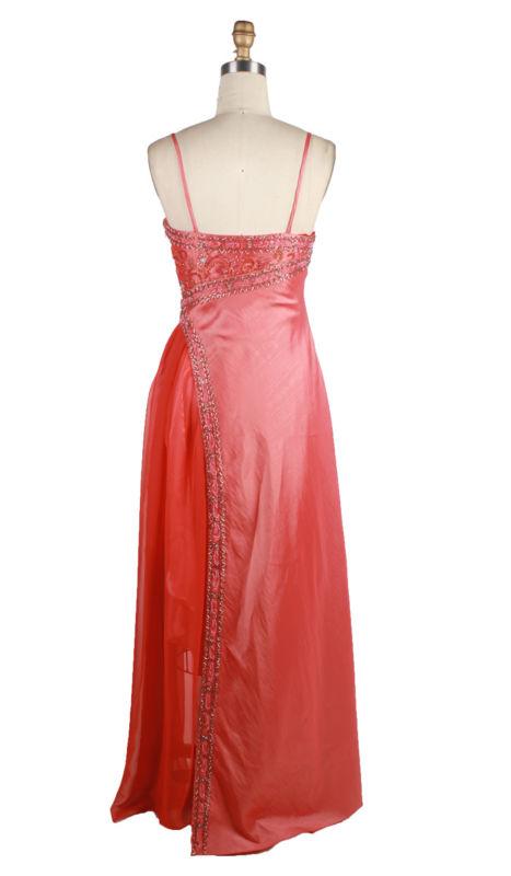 Special Chiffon Design Sexy Skirt Long Red Evening Dress