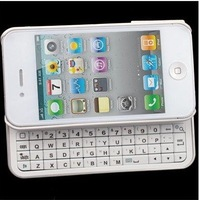 Sliding Bluetooth Wireless Keyboard+Hardshell Case For iPhone 4S 4 Black / White miniBluetooth Wireless Keyboard
