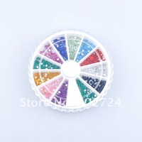 Накладные ногти 12 Colors /set=a style Nail Art Design Round Stickers fashion decoration