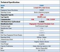Прибор записи посещаемости по отпечаткам пальцев Realand YP68T