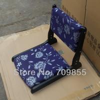 складной стул TA30-2 Sell by Zaisu japanese tatami zaisu chair floor in dark black finish, Dark blue fabric