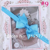 Детский аксессуар для волос Baby Ribbon Bow Headband Infant Girls Bow Headband Toddler Girls Bow Soft Stretchy Headband Ship Promo 24pcs HB173
