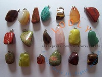 Ювелирная подвеска natural stone pendants lot #735.2 mixed new cats eye rose quartz crystal red agate fit necklaces genuine jewelry