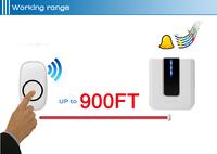высокое качество 900 метрах большой дальности беспроводной дверной звонок водонепроницаемый ip44 с 3 перезвон мелодии 52 единицы выбирается