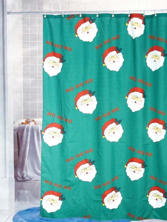 free shipping kindly santa claus shower curtain fabric curta