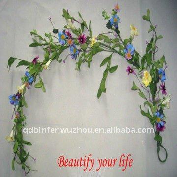Clásico colgante artificial flores guirnaldas para indoor o ...