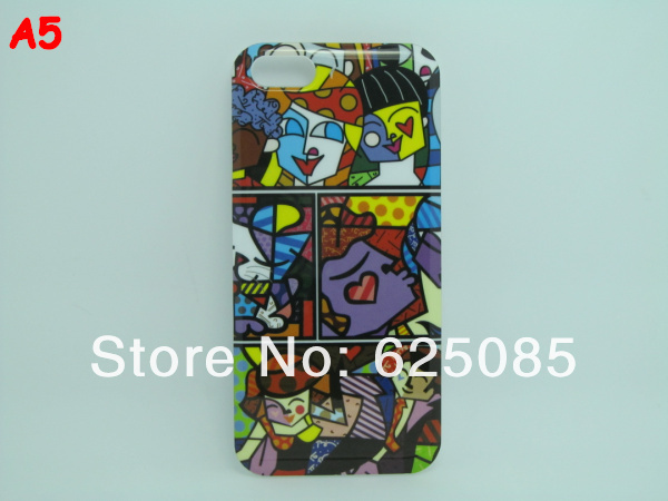 [IP5-17] A-Illustration girl Frog Love Fish Bird Cartoon Abstract  Design Plastic Hard Case for Iphone5 Iphone 5 5G (5).jpg