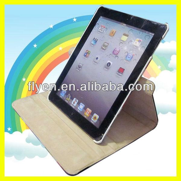 Multi-Color Striped 360 Rotating Cover Case for iPad Air iPad 4 3 2 iPad mini