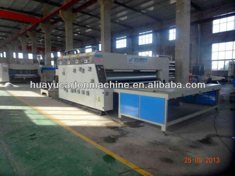 HY-4200-B1 type semi-auto flexo printing rotary slotting die cutting creasing machine