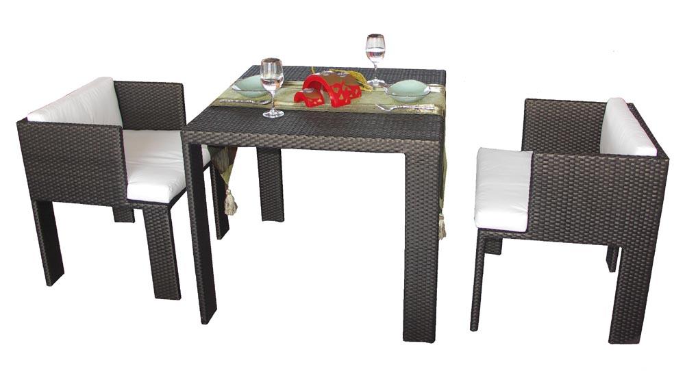 Moderne en rotin en osier table manger et chaises pour 4 for Table de salle a manger pour 10 personnes
