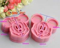 Украшения для выпечки cake tools, 1 set 2pcs Minnie & Mickey cookie cutter Fondant Cake sugarcraft crafts mold bakeware.10 sets/lot