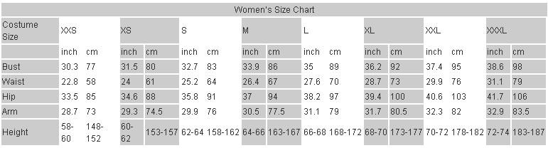 women-size-chart