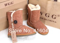 Женские ботинки 2012 Brand classic WGG 5803 women's popular Button Snow Boots 100% real leather winter shoes US 5 6 7 8 9