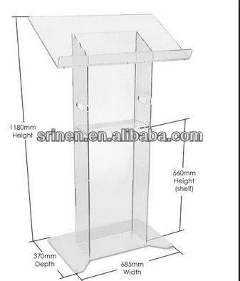 modern acrylic lectern & podium & pulpit & rostrum