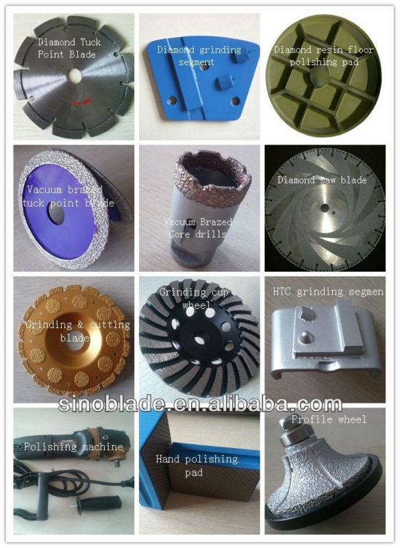 Diamond tools for hard concrete floor