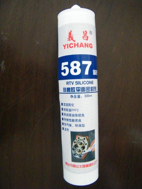 587 blue Silicone flange sealant