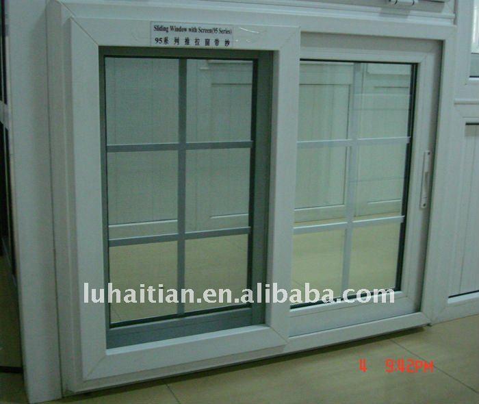 Vinyl pvc insulating sliding windows with mosquito net for Cheap vinyl windows