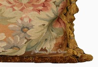 "Диванная подушка Hand Woven Wool Aubusson Pillow Cover - Vintage Tropical - 18""x18"" Home Decorative"