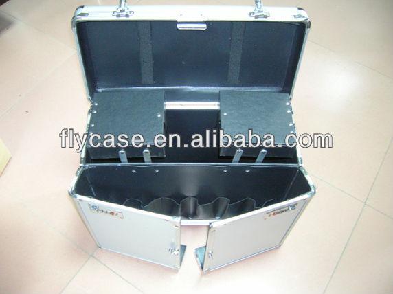 straight corner silver aluminum makeup case