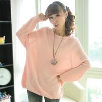 Hotsale Womens Long Sleeve Bat Hollow Knit Pullover Jumper Casual Loose Sweater