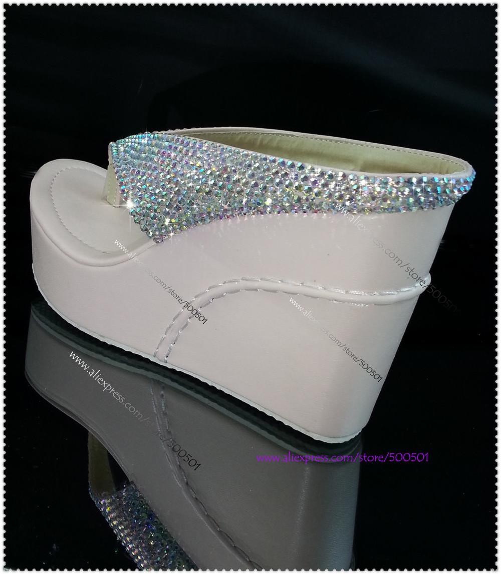 Glitter Wedge Flip Flops Wedge Flip Flops High Heel